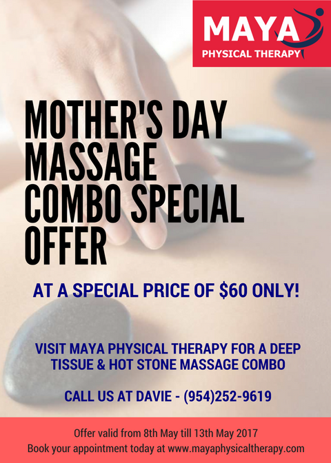 Mother's Day massage combo Maya Physical Therapy Davie