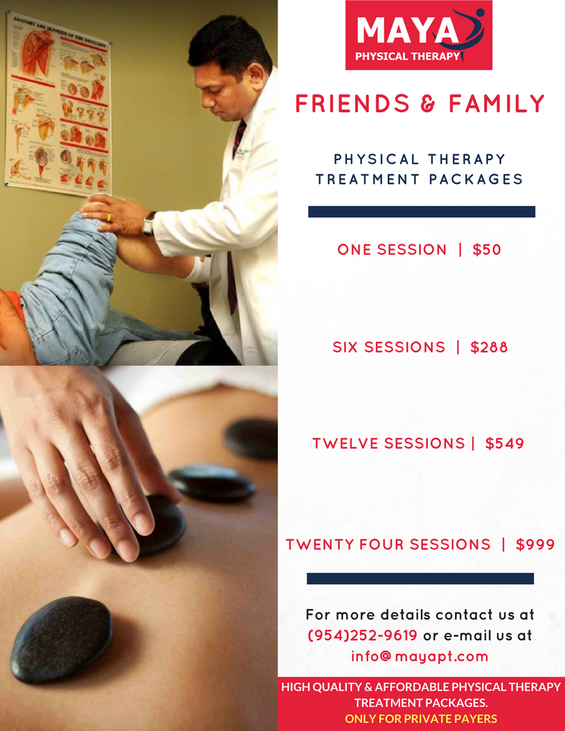 Friends & Family Physical Therapy Treatment Packages Maya Physical Therapy